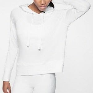 ATHLETA | sz S Open Hearted hoodie in pure white